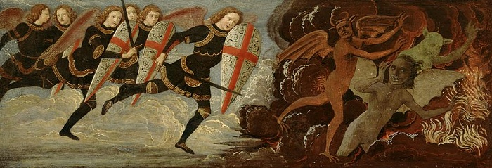 st-michael-and-the-angels-at-war-with-the-devil-domenico-ghirlandaio